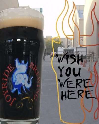Wish You Were Here Blood Orange Black IPA - Joyride Brewing
