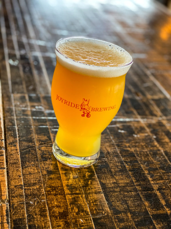 Picture of hazy pale ale in a glass